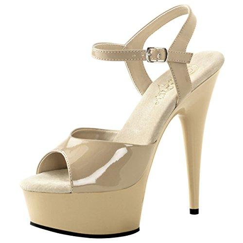 Heels-Perfect - Sandalias de vestir de Material Sintético para mujer Beige - Beige (Creme)