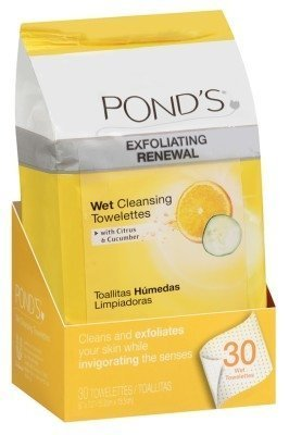 Pond's Exfoliating Renewal MoistureClean Towelettes, 28 Each (Pack of 6)