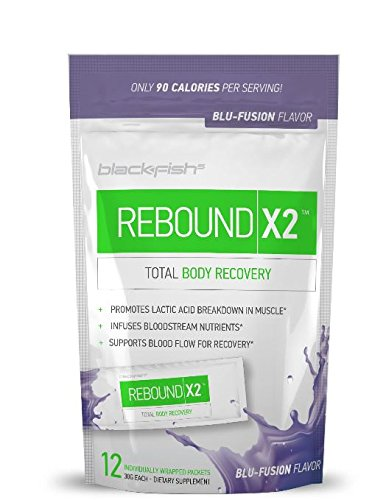 BlackFish 5 Rebound X2: Muscle Recovery and Post Workout Drink - BCCA Super Blend, 12 Packets