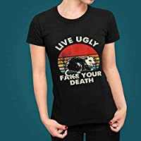 Live ugly fake your death shirt, ugly cat Vintage Unisex T-Shirt Short-Sleeve Hoodie Sweatshirt Long-Sleeve V-Neck Tank Men Women Tee Gif