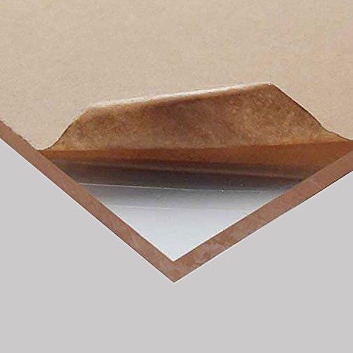 "Acrylic Plexiglass Plastic Sheet 1//4/"" x 24/"" x 24/"" Clear"