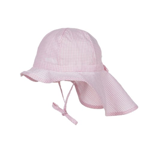 Döll Unisex - Baby Schirmmütze Sonnenhut mit Nackenschutz 000076941, Kariert, Gr.53, Rosa (sweet lilac 2010)