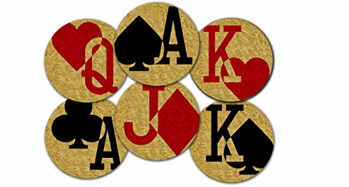 (Corkology Gamblers Charms Coaster Set, Cork)