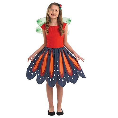 fun shack Girls Fairy Costume Childrens Woodland Spirit Floral Dress - Medium -