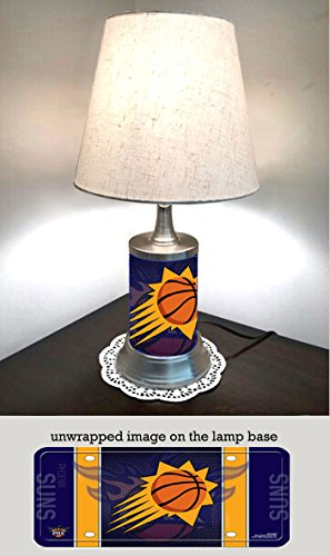 (Suns Table Lamp with Shade, Your Favorite Team Plate Rolled in on The lamp Base, Phoenix S)