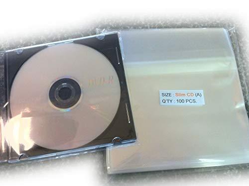 UNIQUEPACKING 5 7/8 x 5 1/8 Slim CD Case Cello Cellophane Bags - Pack of 100