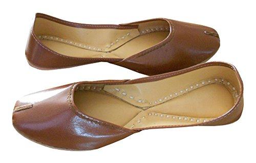 indische Braun Traditionelle Damen Casual Creations Leder KALRA Schuhe qRAtw
