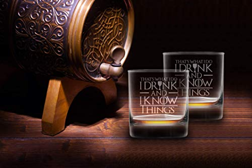 I Drink And I Know Things Highball Whiskey Glasses - Set of 2 - by FOLE (Image #2)