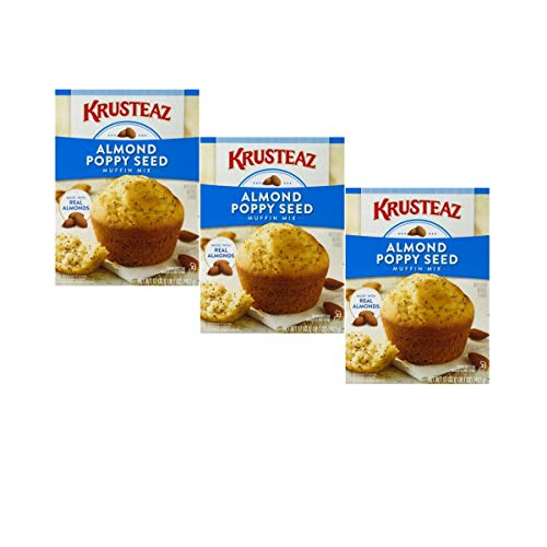 - Krusteaz Almond Poppy Seed Muffin Mix, 17-Ounce Boxes (3 pack)