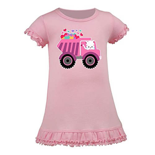 Inktastic - Kitten Sending Some Love This Valentine's Day Toddler Dress 4T Pink