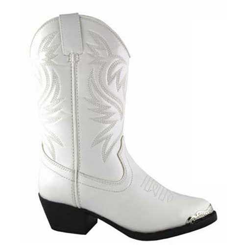 Smoky Mountain Girls' Mesquite Western Boot Round Toe White 11