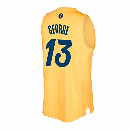(adidas Paul George Indiana Pacers NBA Gold 2016 Christmas Swingman Jersey)