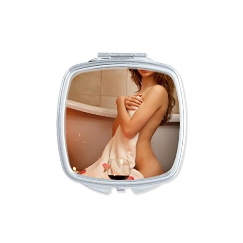 Bathroom Hot Nude Sexy Babe Girl Butt Ass Bathtub Pretty Gal Lady Square Compact Makeup Pocket Mirror Portable Cute Small Hand Mirrors - Mirror Nude Babes