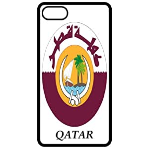 Qatar - Coat Of Arms Flag Emblem Black Apple Iphone 5 Cell Phone Case - Cover