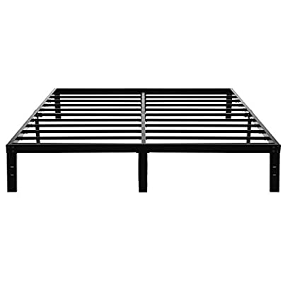 45Min 14 Inch Platform Bed Frame/Easy Assembly Mattress Foundation/Heavy Duty Steel Slat/Noise Free/No Box Spring Needed, King/Queen/Full/Twin by 45minBedFrame