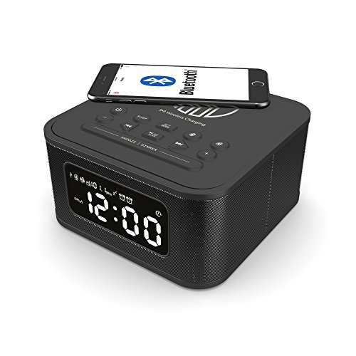 Neptune Free Speaker, Wireless QI Charging Station, Bluetooth Dual Alarm...