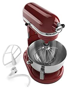KitchenAid 4KV25H0XER Pro 5 Plus 5-Quart Bowl-Lift Stand Mixer, Empire Red