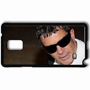 Personalized Samsung Note 4 Cell phone Case/Cover Skin Antonio Banderas Actor Man Glasses Dark Brunette Black