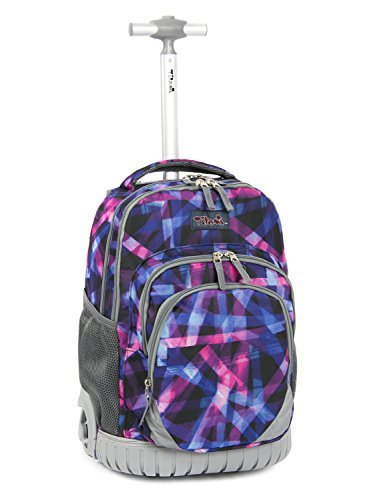 Tilami New Antifouling Design 18 Inch Oversized load multi-compartment Wheeled Rolling Backpack Luggage Kids (Abstract -