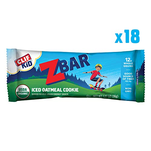 Clif Kid ZBAR - Organic Granola Bars - Iced Oatmeal Cookie - (1.27 Ounce Energy Bars, Kids Snack, 18 - Boy Cookies Organic