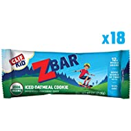 Clif Kid ZBAR - Organic Granola Bars - Iced Oatmeal Cookie - (1.27 Ounce Energy Bars, Kids Snack, 18 Count)