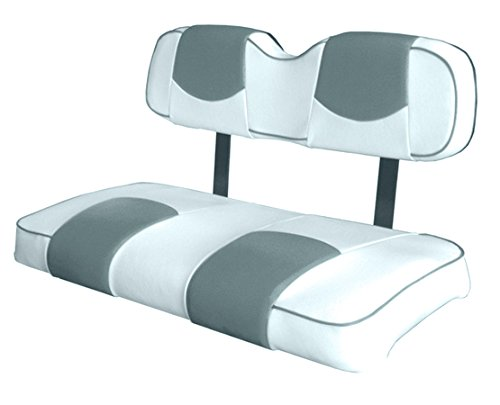 Kool Cushions CCPREC--WHCSTPFR-01 -Custom Vinyl Golf Cart Seat Covers Front and Rear-White With Cornerstone Top and Piping - For Club Car Precedent Golf Cart -  CCPREC--WHTCSTPFR-01