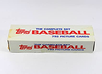 Amazoncom 1987 Topps Complete Retail Set Factory Sealed