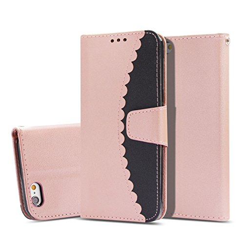 iPhone 6S Case,iPhone 6 Case, UZER Premium PU Leather Flip Folio Wallet Case with Kickstand Card Holder ID Slot and Hand Strap Shockproof Protective Cover Durable Magnetic Book Case for iPhone 6S/6