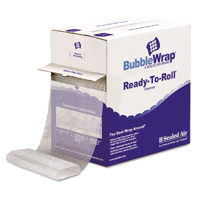 Sealed Air 69566 Bubble Wrap, Self-Clinging Air-Cushioned, 3/16'' Thick, 12'' x 175ft