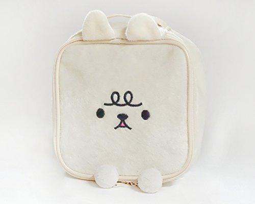 White Rabbit Bag (Soft Plush Cosmetic Makeup, Multipurpose Pouch (White-rabbit))