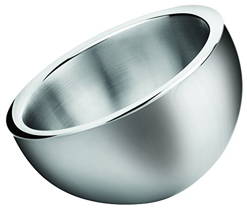 Winco DWAB-S 1-1/2 quart Angled Double Wall Insulated Stainless Steel Display Bowl