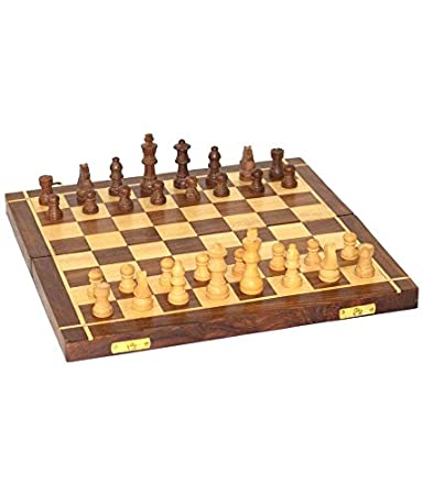 Giftoshopee Wood Folding Chess Board Handmade Game,