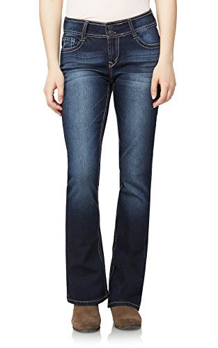 WallFlower Jeans Junior's Petite Instastretch Luscious Curvy Bootcut Jeans, Betsy, 13 Short by WallFlower