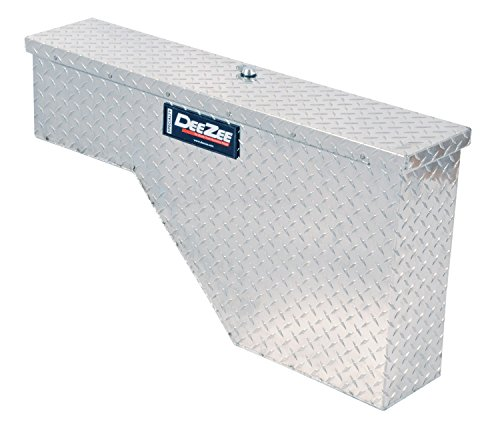 Dee Zee DZ95 Specialty Series; Wheel Well Tool Box; .056 Brite-Tread Aluminum; Clear Coat; Volume 2.2 cu. ft.; L 37 in. x W 7.75 in. x H 19.5 in.; Drivers Side;