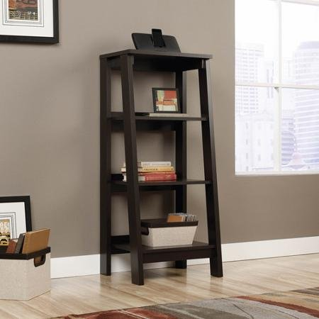 Sauder Trestle 3-Shelf Bookcase, Jamocha Wood