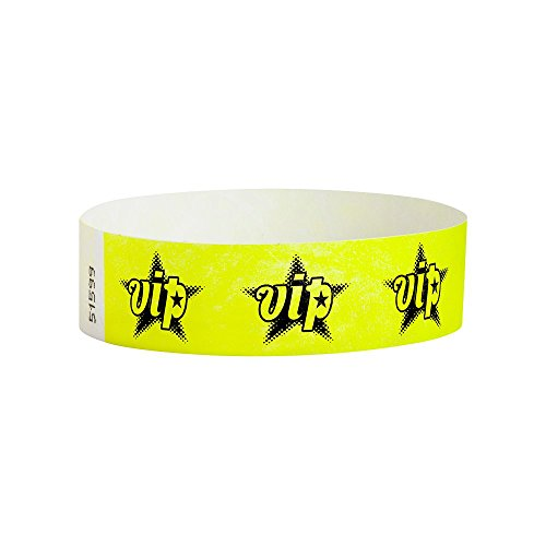 WristCo Neon Yellow Tyvek Wristbands product image