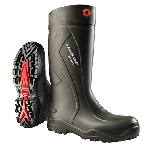 Dunlop Adults Unisex Purofort Plus Wellies (5 US) (Green) by Dunlop