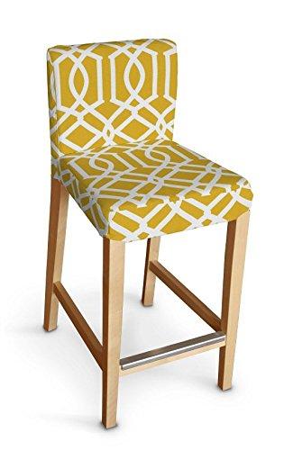 Stupendous Dekoria Ikea Henriksdal Bar Stool Cover White Pattern On Forskolin Free Trial Chair Design Images Forskolin Free Trialorg