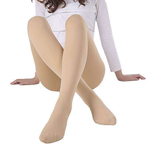WEANMIX Women Tights Winter Thick Run Stretch Resistant Control (Nude) (5' - 5'9