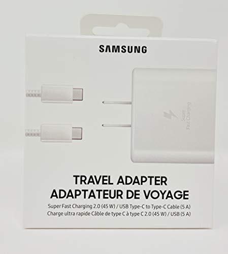 Samsung Official 45W USB-C Super Fast Charging Wall Charger (White)