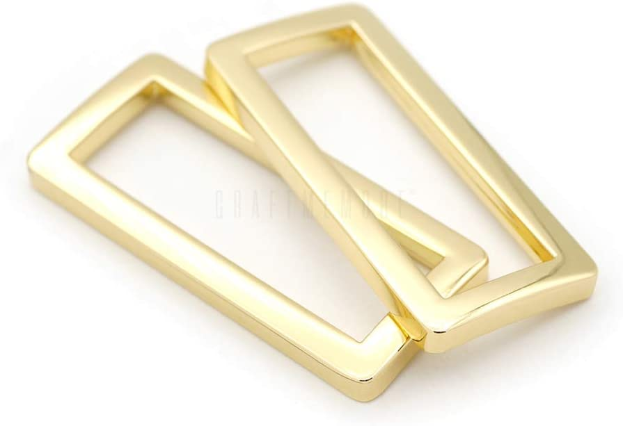 3//4 Inch, Antique Brass CRAFTMEmore Metal Rectangle Buckle Ring for Bag Belt Loop Strap Heavy Duty Rectangular Cord fits Webbing 5//8 3//4 1 Wide Pack of 20