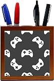 Rikki Knight Gaming Joystick Pattern Design 5 Inch Tile Wooden Tile Pen Holder
