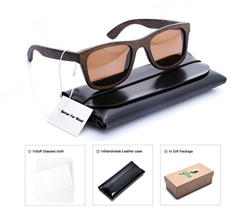Better For Wood Retro Bamboo Polarized Sunglasses For Men and - Bans Rey
