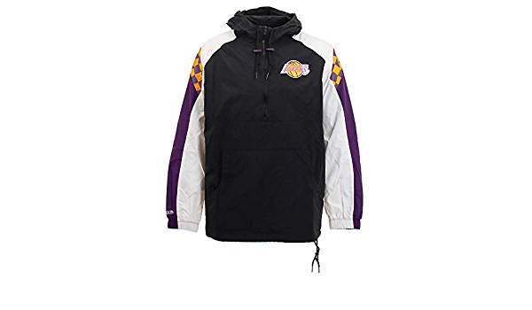 Mitchell /& Ness Los Angeles Lakers Packable Nylon Anorak Jacke