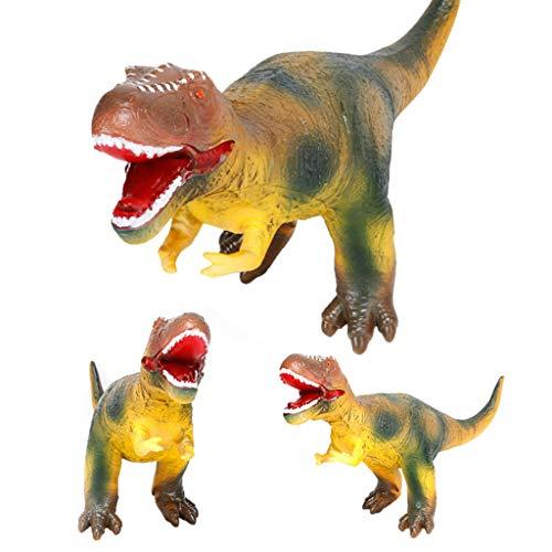 AMOFINY Large Simulation Silicone Dinosaur Toys Silicone Dinosaurslarge Soft Foam Rubber Stuffed Dinosaur Toy Animals Figures with -