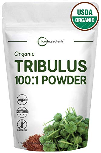 - Organic Tribulus Terrestris 100:1 Powder Extract, 8 Ounce (227g), for Healthy Libido and Testosterone Levels, Non-GMO & Vegan Friendly
