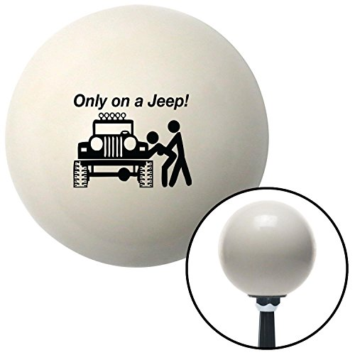 Black Only On A Jeep Ivory Shift Knob with M16x1.5 Insert go kart spyder sbc