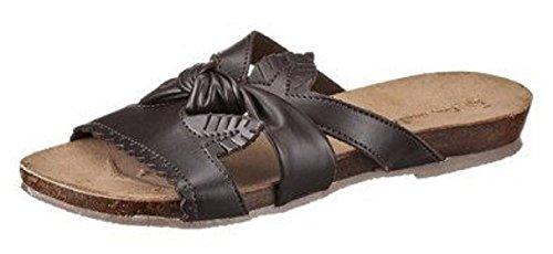 I´m Walking Pantolette - Zapatillas de Estar Por Casa de cuero sintético Mujer marrón - Marron - Marron foncé