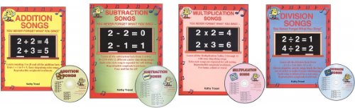 (Audio Memory Songs Math CD SET -- Addition, Subtraction, Multiplication and Division (You Never Forget What You Sing!))