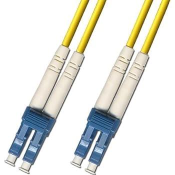 Amazon.com: 1 Meter Singlemode Duplex Fiber Optic Cable (9/125) - LC ...